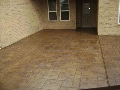 Brown Concrete Patios Aztec Decorative Concrete Houston, TX
