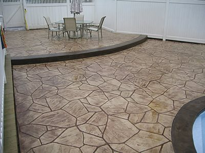 Brown, Flagstone Concrete Patios Daponte Construction Holtsville, NY