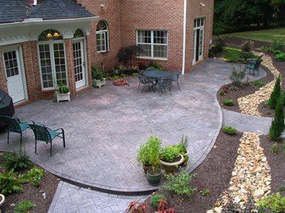Charcoal, Victorian Red Concrete Patios Hudecek Cement Inc North Royalton, OH