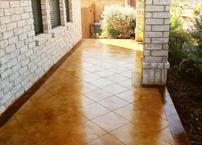 Diamonds, Shiny Concrete Patios Custom Concrete Solutions Schertz, TX