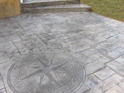 Grey, Compass Concrete Patios CamoCrete Exton, PA