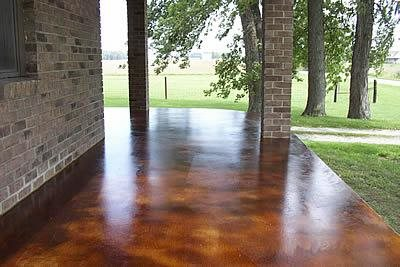 Newly Stained Patio
