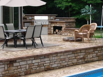Patios And Decks. Patio, Pool Deck Concrete