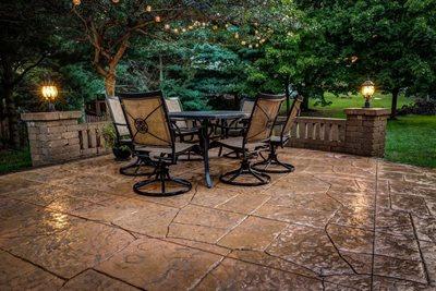 Patio Lighting, Patio Texture Concrete Patios J&H Decorative Concrete LLC Uniontown, OH