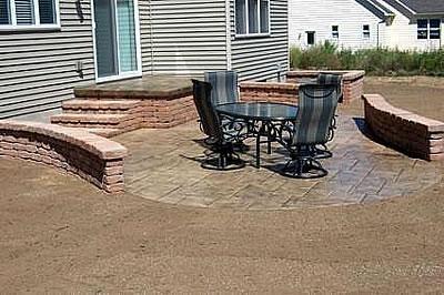 Sand, Stone Concrete Patios Vezelis Construction Inc. Rochester, NY