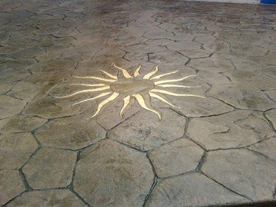 Sun, Gold Concrete Patios CamoCrete Exton, PA