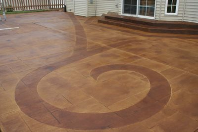 Swirl, Engraved Concrete Patios Special Effex Loves Park, IL