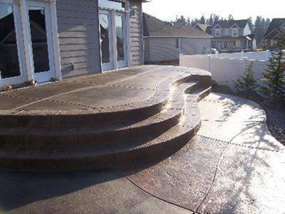 Textured Concrete Concrete Patios Meidling Concrete Spokane Valley, WA