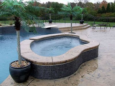 Adobe Buff Concrete Pool Decks Concrete by Design Springboro, OH