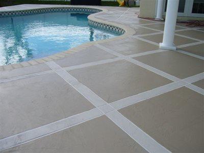 Concrete Squares Concrete Pool Decks AAA Concrete Elegance Inc Oakland Park, FL