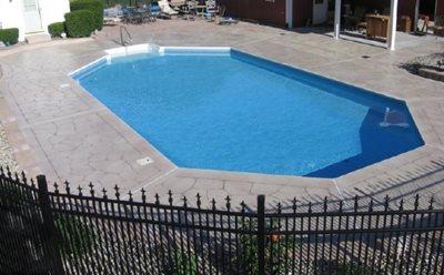 Engraved Illinois Concrete Pool Decks Concrete Illusions Inc Kankakee, IL