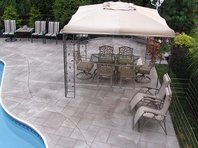 Geometric, Stone Concrete Pool Decks Endless Concrete Design Zionsville, PA