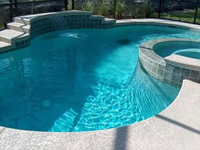 Grey, Textured Concrete Pool Decks DCsurfaces Jacksonville, FL