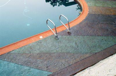 Multi Colored, Scored Concrete Pool Decks Decosup Rowlett, TX