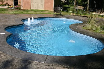 Onyx Black Concrete Pool Decks J&H Decorative Concrete LLC Uniontown, OH