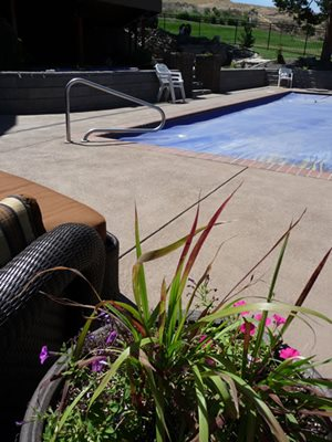 Overlay Concrete Pool Decks Concrete Impressions Northwest Burbank, WA