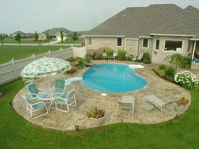 photo gallery concrete pool decks
