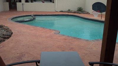 Concrete Pool Decks Stamped Artistry Pasadena, TX