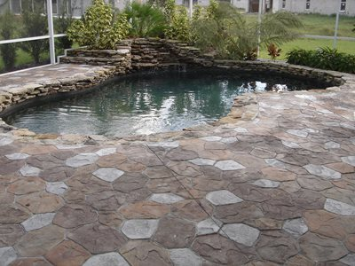 Swimming Pool Concrete Pool Decks Impressions Decorative Concrete, Inc Lutz, FL