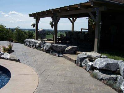 Tile Pattern Concrete Pool Decks J.P. Havens Contracting Newmanstown, PA