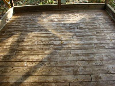 wood grain stamped concrete 1