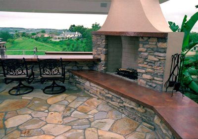 Red, Mantel Outdoor Fireplaces California Concrete Designs Anaheim, CA