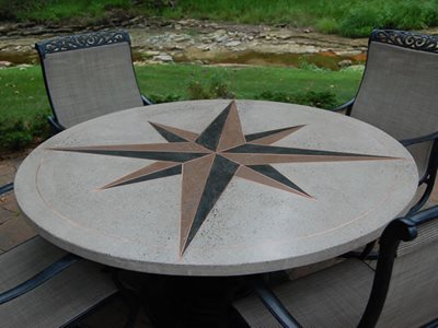 Marvelous Inlaid, Copper Outdoor Furniture M² Decorative Concrete Mansfield, OH