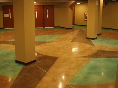 Polished concrete spartanburg sc photo gallery for Buffing stained concrete floors