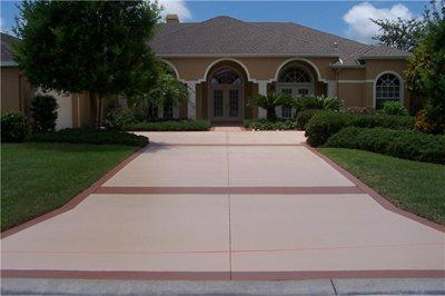 Engraved Concrete Driveway Color And Design Save Money