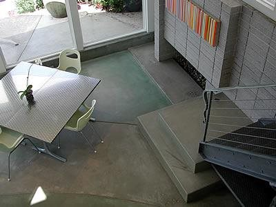 Green, Curved Site Masterpiece Concrete Compositions Oceanside, CA