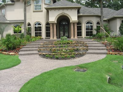 European Fan Stamped Concrete Increte of Houston Stafford, TX