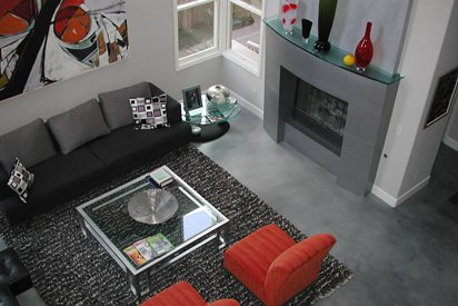 Dark Grey, Modern Concrete Floors Masterpiece Concrete Compositions Oceanside, CA