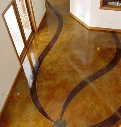 Ribbon Pattern Concrete Floors Cornerstone Designs Orrville Oh