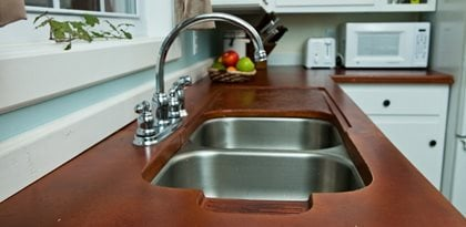 Stainless Steel Sink Architectural Details Reformed Concrete LLC Quarryville, PA
