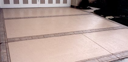 Stamped, Bands Concrete Driveways Concrete Solutions San Diego, CA