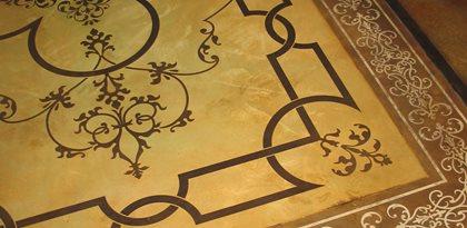 Rug, Stencil Concrete Floors Modello Designs Chula Vista, CA