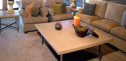 Large Coffee Table Concrete Furniture Cement Elegance Bend, OR