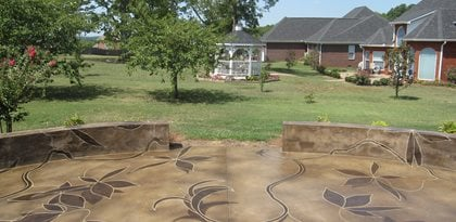 Concrete Patios Concrete Mystique Engraving Nashville, TN