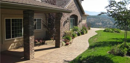 Concrete Walkway, Side Of House Concrete Walkways Capstone Concrete San  Diego, CA