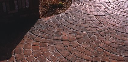 Fan Pattern, Brick Concrete Walkways Brickform Rialto, CA