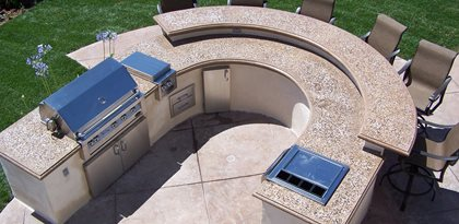 Round Countertop Picture Outdoor Kitchens The Green Scene Chatsworth, CA