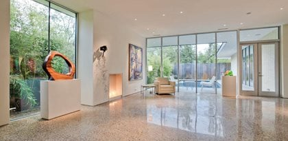 Beautiful Polished Concrete Floor Rescue Richardson, TX