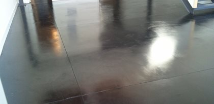 Black Concrete Floor Site Stained Concrete Originals Los Angeles, CA