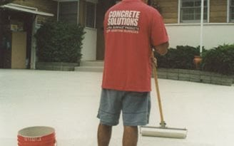 Color Coat Application, Colorcoat 100 Site ConcreteNetwork.com ,