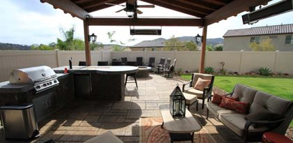 Concrete Patio And Fire Pit Allen Decorative Concrete Escondido, CA