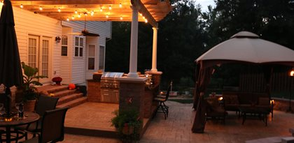 Concrete Patio Site Greystone Masonry Inc Stafford, VA