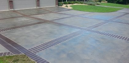 custom faux designs and concrete engraving site custom faux decorative concrete - Concrete Driveway Design Ideas