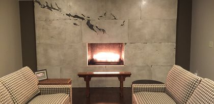 Fireplace Surround Design Ideas fireplace slate surround excellent storage plans free fresh in fireplace slate surround design Custom Fireplace Fireplace Design Site M Concrete Studios Dayton Oh