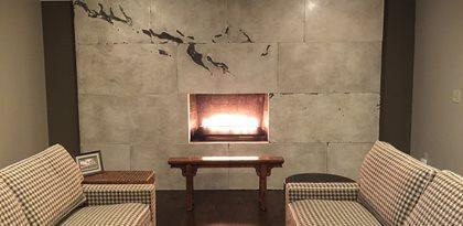 Custom Fireplace Design Site M Concrete Studios Llc Dayton Oh