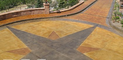 Driveway Turnaround Site Rad Concrete Coatings LLC Riverton, UT